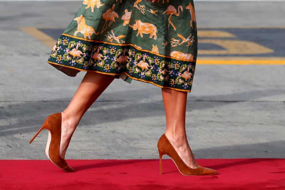 Melania Trump departs Nairobi, Kenya.