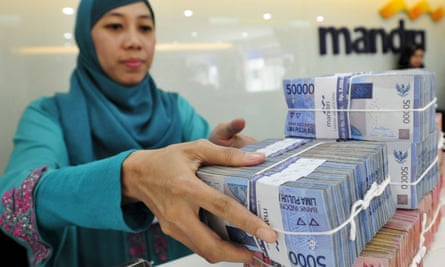 Indonesia rupiah fell more than 5% on Friday, prompting the central bank to intervene.