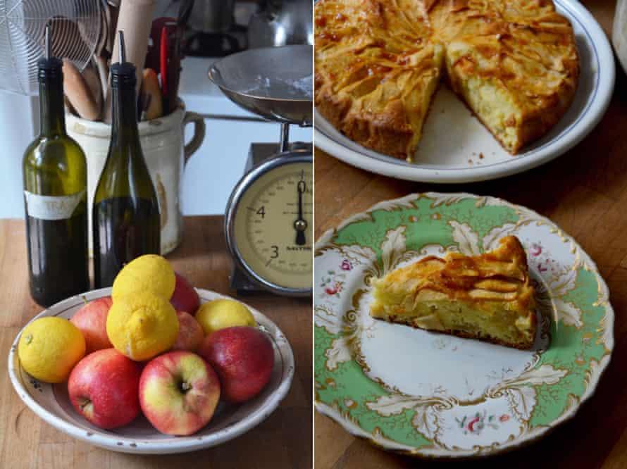 Rachel Roddy's apple and olive oil cake.