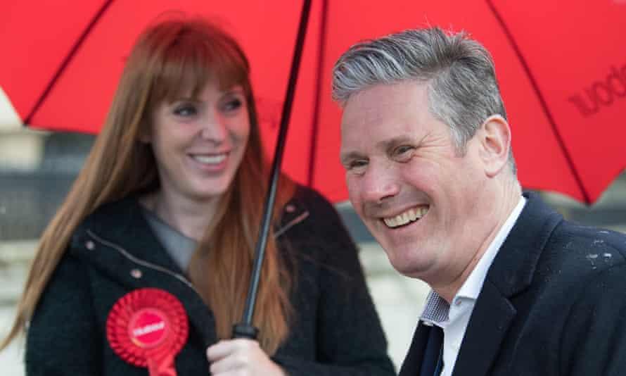 Angela Rayner and Keir Starmer on the campaign trail in Birmingham last week.