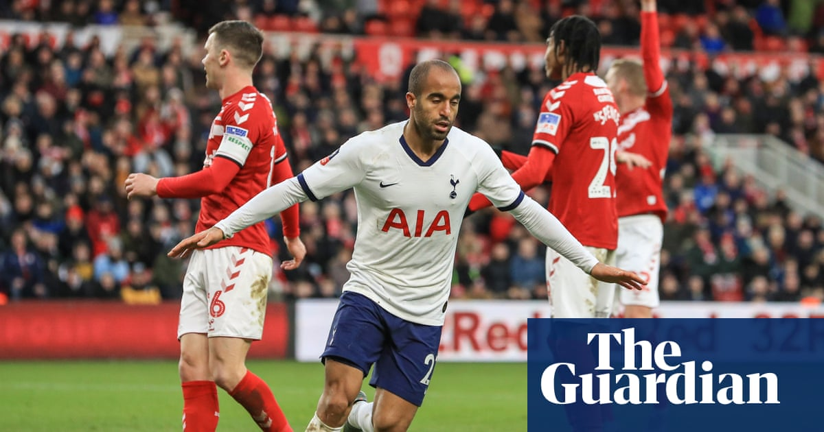 Lucas Moura salvages replay for Tottenham to deny Middlesbrough