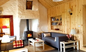 The Scandi-influenced interior of the cottage in west Donegal.
