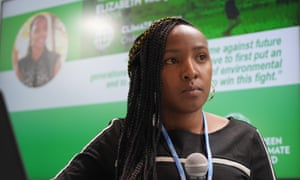 Elizabeth Wathuti, a climate activist from Kenya, says a common worry she hears among students is, 'We won't die of old age, we'll die from climate change'.
