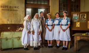 Stephen McGann as Dr Turner with other cast members of Call the Midwife.