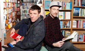 Sleaford Mods: Jason Williamson, left, and Andrew Fearn in Housmans bookshop in London's King's Cross
