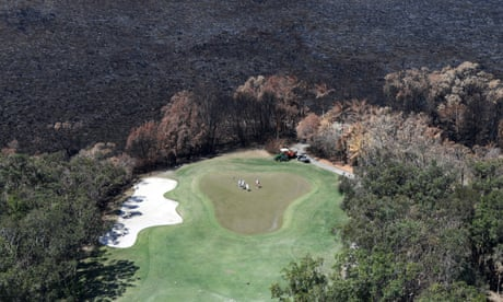 Satellite and aerial images show the extent of bushfire damage