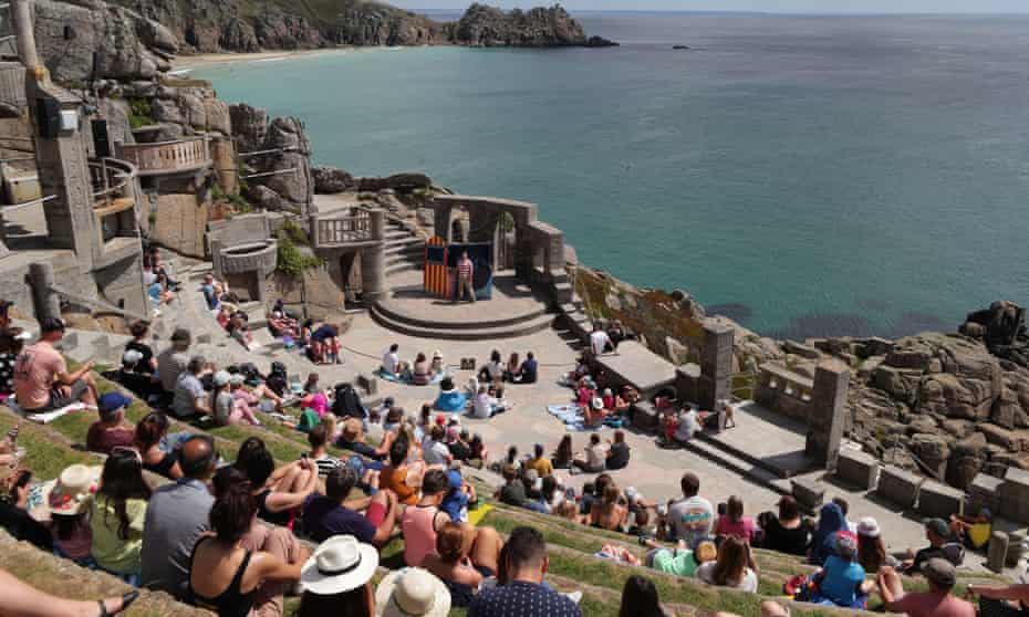 In their elements ... The Minack Theatre in Cornwall.