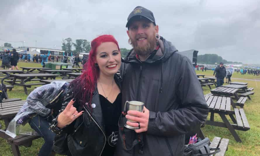 Jamie and Lauren McAloon, who married at the Download pilot festival.