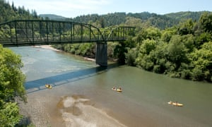 Canoeing on the Russian River at Guerneville