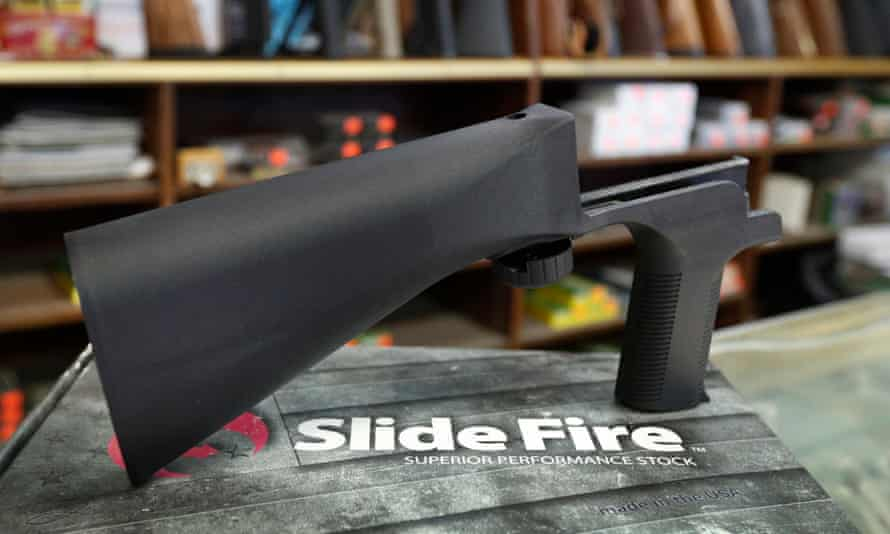 A bump stock device like that used by the Las Vegas gunman