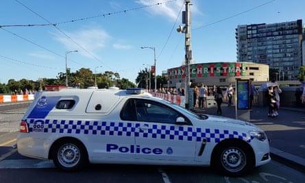 Police car in Melbourne