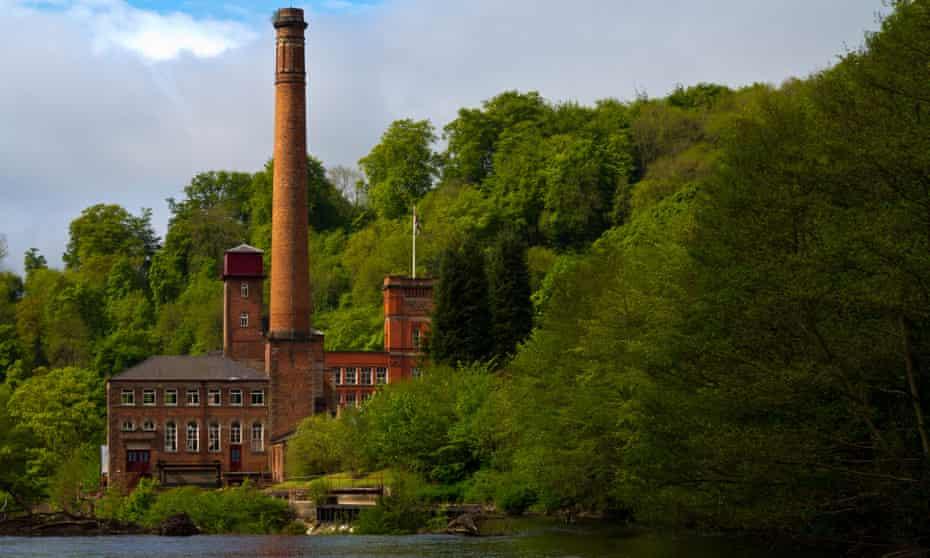 Masson Mill a former cotton mill now shops near Matlock Bath