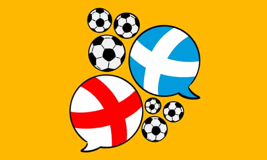 Illustration of some footballs and speech bubbles