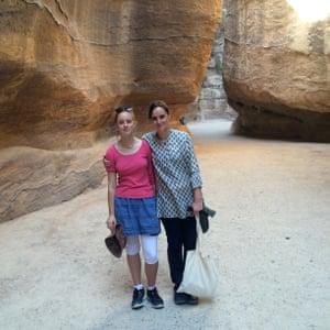Amelia Gentleman and Rose in Jordan.