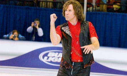 Will Ferrell in the 2007 ice skating spoof, Blades Of Glory.