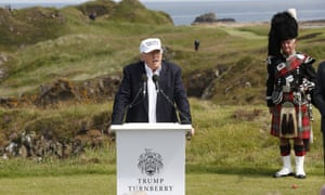 Donald Trump officially opens his Ayrshire hotel and golf resort
