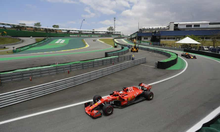 Sebastian Vettel was in second place after first practice at Interlagos before the Brazilian Grand Prix.