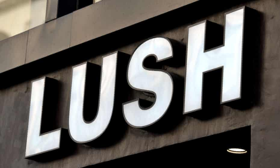 Lush shop sign