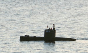 Swedish journalist Kim Wall in the tower of the private submarine UC3 Nautilus on 10 August 2017 in Copenhagen harbour