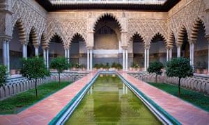 Patio de las Doncellas at Real Alcázar.