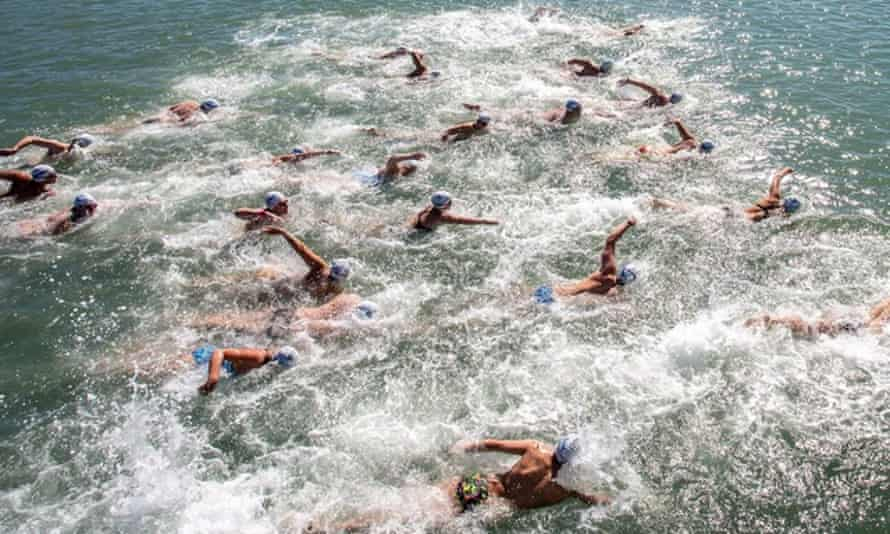 Up to 200 swimmers now take part in the event.
