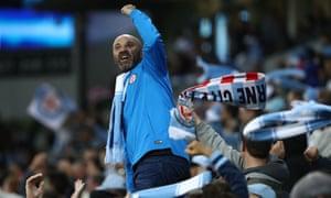 City fans celebrate.