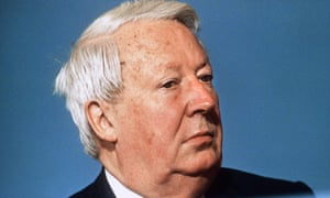The former prime minister Edward Heath