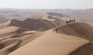 Crossing the mega-dunes on the eastern flank of the Dasht-e-Lut.