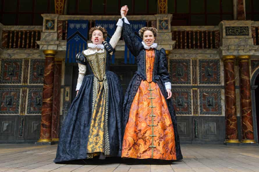 Ellie Piercy and Michelle Terry in As You Like It at the Globe, directed by Blanche McIntyre in 2015.