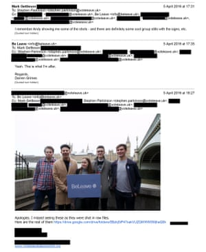 Redacted Vote Leave emails
