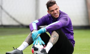 Ederson gets ready to face West Ham on Saturday.