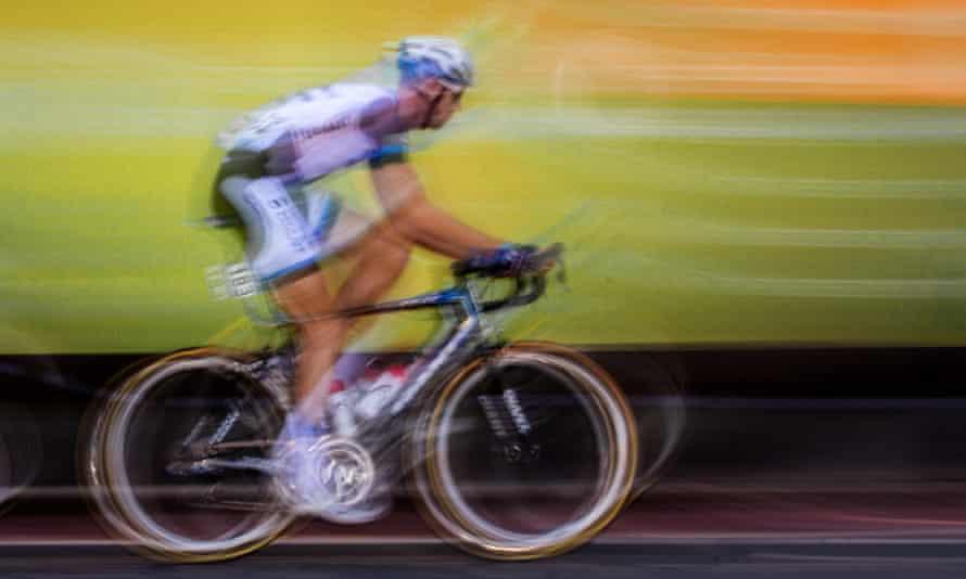 Carbon fibre bike in the Tour of Britain