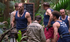 James Haskell and campmates in the 'I'm a Celebrity...' jungle in November 2019.