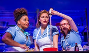 Marisha Wallace, Katharine McPhee and Laura Baldwin in Waitress.
