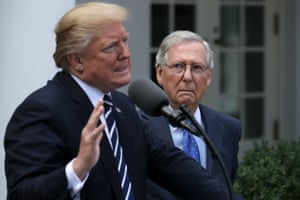 Mitch McConnell with Trump in 2017. Unlike most senators, McConnell was never known to muse about a future presidential run.