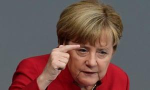 Angela Merkel speaking in the Bundestag
