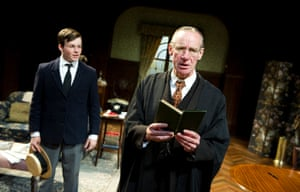 Liam Morton (John Taplow) and Nicholas Farrell (Andrew Crocker-Harris) in The Browning Version by Terence Rattigan from the double bill South Downs and The Browning Version at the Minerva Theatre, Chichester, 2011