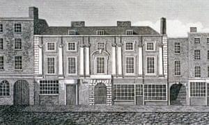 Shaftesbury House, Aldersgate Street, London, 1813 as depicted by J Simpkins.