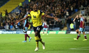 Shandon Baptiste celebrates scoring Oxford's fourth goal to complete the Carabao Cup embarrassment for West Ham.