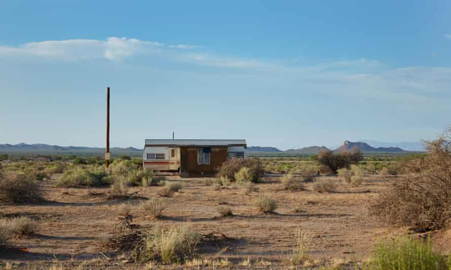 An abandoned house in the desert, Blackwater, Arizona