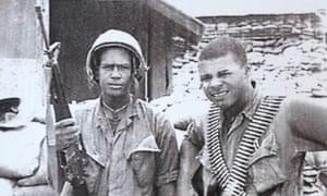Dedan Kimathi Ji Jaga, right, 15 miles outside of Da Nang, Vietnam, in 1968.