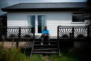 Jonas Muza at his home in the Falklands