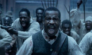 Still from The Birth of a Nation showing Nate Parker screaming