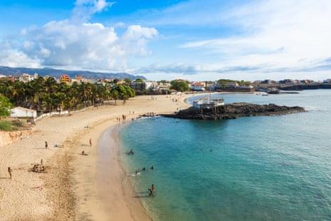 Tarrafal beach in Santiago island in Cape Verde - Cabo Verde