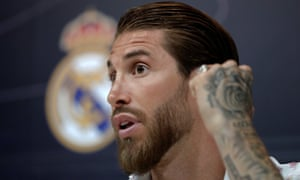 Real Madrid defender Sergio Ramos gives a press conference on Thursday.