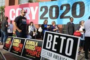 The line-up in the Democratic field is historically diverse, including six women, six people of colour and a gay man.