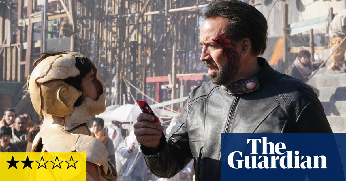 Prisoners of the Ghostland review – Nicolas Cage outdoes himself in deranged action movie