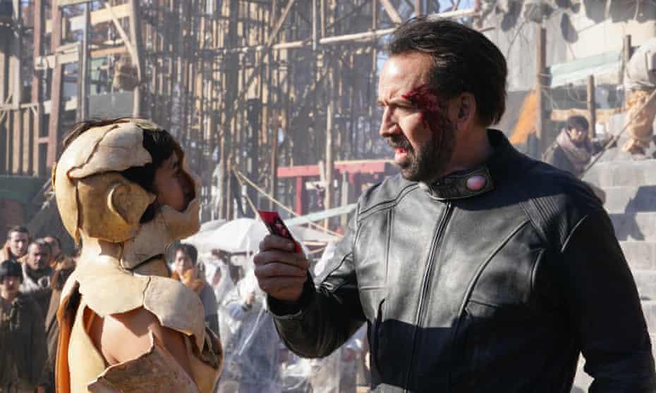 Nicolas Cage in Prisoners of the Ghostland.
