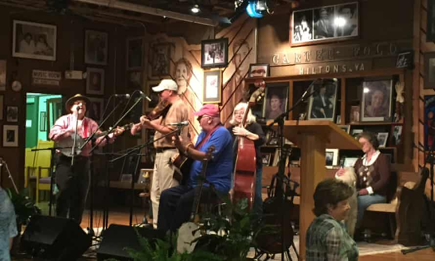 Mountain Park Old Time Band on stage at the Carter Family Fold, Virginia