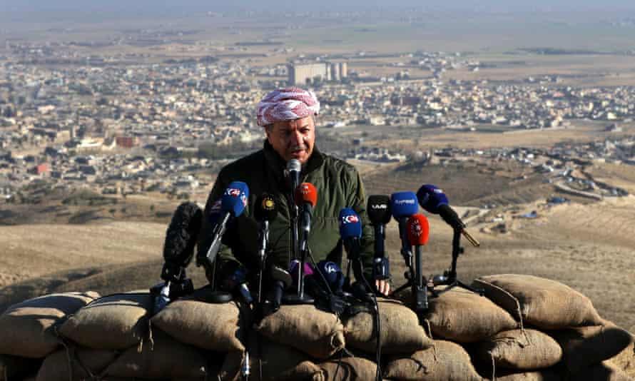Iraqi Kurdish leader Massoud Barzani